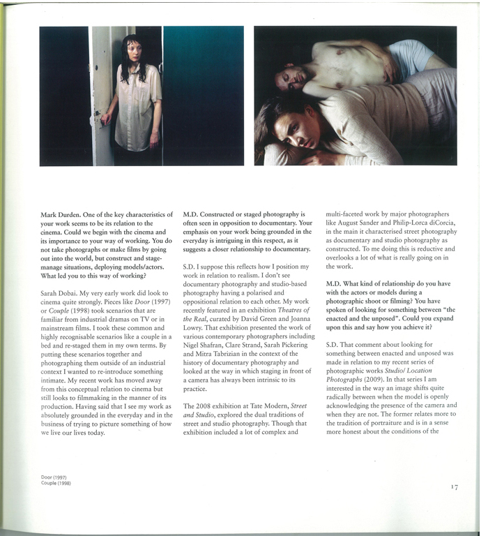 SARAH DOBAI, Source Interview Page 1, 2010