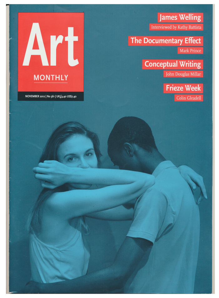 SARAH DOBAI, Art Monthly Cover